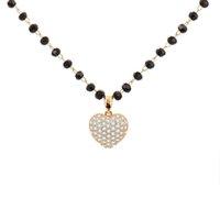 Cz Zircon Gold Heart Codiques Colliers Pour Femmes Femme Strass Beads Chaîne Mignon Love Charm Charme Trendy Bijoux Accessoires 2020 Y0528