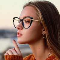 النظارات الشمسية Wacksaria الضوء الأزرق حظر النظارات 2021 النساء النظارات المتضخم مكافحة الكمبيوتر الرجال السلامة نظارات