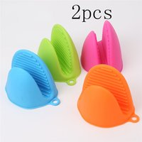 2PCS Multifunction Kitchen Silicone Oven Gloves Heat Resistant Gloves For BBQ Gloves Anti-slip Pot Oven Mitts Kitchen Gadgets