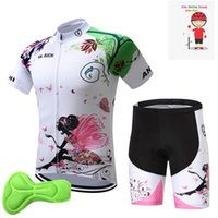 Gym Clothing Kids Cycling Jersey Pink 2021 Short Sleeves Set Children Bike Ropa Ciclismo Girl Sports Suit