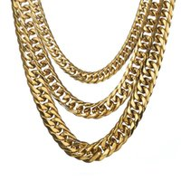 13mm Customize Length Mens High Quality Stainless Steel Necklace Curb Cuban Link Chain Fashion Jewelry Arrival Chains
