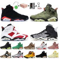 nike air jordan 6 jordan retro travis scott 6 6s Jumpman 6 avec boîte Hommes infrarouge Basketball Chaussures de sport de chromea Hare Tech Chromea Chromea