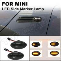 For MINI Cooper R50 R52 R53 2002-2008 Flowing Side Indicator Lamp Dynamic LED Marker Light Turn Signal Amber Emergency Lights