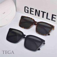 Gafas de sol de moda 2021 Hombres cuadrados wo acetato polarizado UV400 Genlte Tega Gafas con estuche