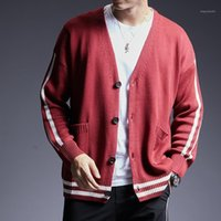 2020 New Fashion Brand Sweater Men's Cardigan Solid Color Slim Fit Jumpers Knitwear Warm Winter Korean Style Casual Mens Clothes1