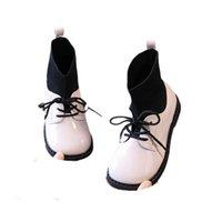 Girls Boots Kids Shoes Childrens Footwear Autumn Winter Baby Short Boot Princess Moccasins Soft Socks Shoe B8450