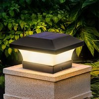 Zonne-kolom Koplamp LED Outdoor Verlichting Hek Poort Pijler Tuin Chinese stijl Decor wandlamp Waterdichte binnenplaats Licht