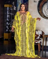 Ethnic Clothing African Dresses For Women Autumn O-neck Printing Polyester Plus Size Long Dress Maxi Clothes