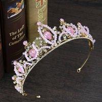 Yeni Pembe Kek Taç Saç Aksesuarları Çocuk Doğum Günü Partisi Başlıklar Prenses Düğün Gelin Takı