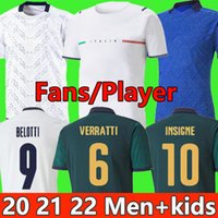 2021 إيطاليا Soccer Jersey 21 22 Barella Sensi Insigne كأس أوروبا النهضة جيرسي جديد Chiellini Bernardeschi كرة القدم قميص الرجال الاطفال مجموعة موحدة