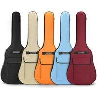 40/41 дюймовый оксфорд ткань акустическая гитара GIG мешок водонепроницаемый рюкзак 5 мм хлопчатобумажные двойные плечевые ремни мягкий мягкий чехол