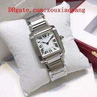 2021 Hohe Qualität Tank Francaise Damenuhr Luxus Quarz Marke Joker Diamond Armbanduhren Klassische Square Santos Womens Uhren D3350