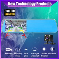 Car Dvr Camera Auto 4.3Inch Golden Rearview Mirror Dash Digital Video Recorder Dual Lens Registratory Camcorder DVRs