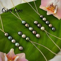 Earrings & Necklace Cring Coco Freshwater Pearl Jewelry Sets Hawaiian Polynesian Necklaces Bracelet Set For Women 2021 On The Neck