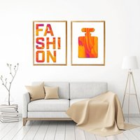 Paintings Nordic Modern Poster Orange Perfume Canvas Painting Fashion Quote Art Print Bedroom Wall Picture For Living Room Home Decor