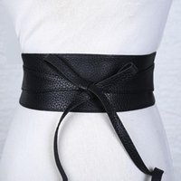 Belts Boho Belt For Women Bowknot Faux Leather Wrap Around Cinch Waistband Black Brown Clothing Accessories