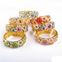 Cloisonne Armband, 18kgp Kvinnors smycken, dubbelsidig kristall, Full cirkelgåva för 1 st bangle