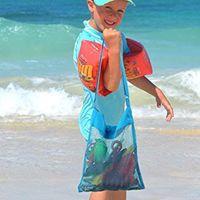 5Color Blank all'ingrosso Blanks Bambini Mesh Shell Shell Beach Seashell Bag Kids Beach Giocattoli da spiaggia Ricevi Sacchetto Mesh Sandboxs Away 651 S2