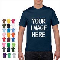 Sin logotipo Precio de algodón hombres camisetas de manga corta Color sólido O Cuello Camiseta Tienda Impresión personalizada Su propio diseño