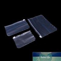 Anti-oxidation Jade Plastic Pouches Jewelry Earrings Valve Zipper Anti-tarnish Clear PVC Storage Bags 3 Sizes