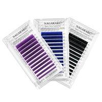 8-15mm False Eyelash Extensions C D Curl Synthetic Fiber Colorful Lashes Mixed Tray Individual Volume Eyelashes Makeup Tool