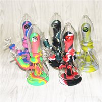 Silicone +Glass Water Bongs Hookah With Filter Bowl Quartz Banger for Smoking Hand Pipes Dab Rigs