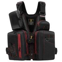 Life Vest & Buoy Waterproof Fishing Jacket Pography Reflective Outdoor Sport Multi Pockets Buoyancy Unisex Safety