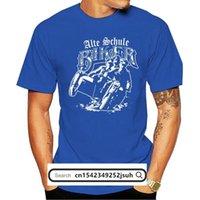 Camisetas para hombres 2021 Hombres Verano O-cuello Tops Old School Biker Motocicleta MC Gratis Alemán Sidecar Alemania Design T Shirt S