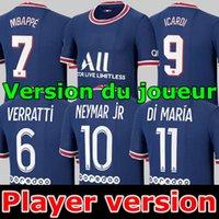 قمم نسخة لاعب Mbappe Kean Neymar Soccer Jersey 21 22 Mailleots de Football Shirts 2021 2022 Marquinhos Verratti Kimpembe Oryms Eryants Mailleot Foot Fourth
