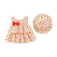 Clothing Sets Baby Dress Flower Print Dresses Sleeveless Kids Girls Summer Princess Children Party Ball Pageant Outfit Send Hat