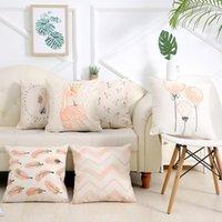 Almohada de la cubierta del cojín de la impresión del sofá de la impresión del flamenco del estilo de la ropa del estilo de la ropa para / para el hogar (sin incluir el llenado) del cojín / decorativo