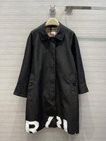 Damen Trench-Mäntel 2021 Herbst-Langarm-Revers-Nackenjacken-Designer-Marke Gleiche Art-Oberbekleidung 0730-26