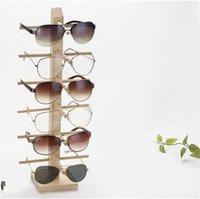 Multi Slays Деревянные Солнцезащитные Освещающие Дисплей Стека Полка Eyeglasses Show Стенд Держатель Ювелирных Изделий Для Многополей Очки Витрина Dropshipping 57 W2