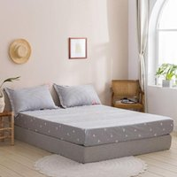 Sheets & Sets Single Double Home Cotton Fitted Sheet Mattress Cover Four Corners With Elastic Bedspread Bed Twin Full Queen Lining