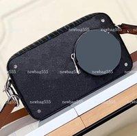 2020 جديد مخلب الرجال حقيبة خمر إغلاق 22 سنتيمتر أكياس crossbody الفولغا على المرقعة أكسدة M69688 حزام الأزياء سستة كاميرا الجلود JDUTP