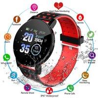 Designer Luxury marca relógios arte pulseira homens mulheres pressão arterial impermeável esporte redondo rastreador de fitness para android ios 119s