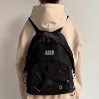 Bags Backpack 21ss High Quality Ader Error Zipper Printing Streetwear Men Campus Handbag