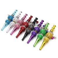 lantern pipe Handmade Metal Hookah Mouthpiece Mouth Tip Colorful Diamond Arab Shisha Narguile Filter For Smoking Pipe Tools Accessories Tips