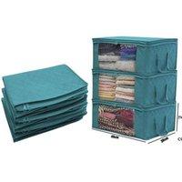 퀼트 스토리지 박스 가방 접이식 먼지 습기 증거 옷 가방 2 색 집 주최자 바구니 바구니 고품질 지퍼 DHD7303
