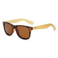Moda Madera Gafas de sol Hombres polarizados Mujeres Vintage Bambú Sunglass Driver Eyewear Matte Black Marco de madera Gafas de sol de madera en línea