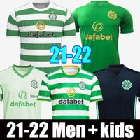 21 22 22 Celtic Soccer Jersey Edouard 2021 2022 Men Bambini Brown Duffy Taylor Retro 1998 98 99 05 06 Away Black 1999 1990 1992 Camicia da calcio Irlanda