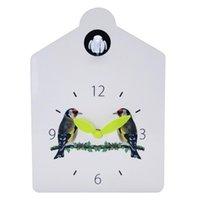 Wall Clocks Modern Wooden Bird Cuckoo Quartz Clock Time Swing Alarm Watch Horologe Home