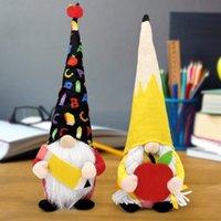 Insegnante regalo Party fornisce gnomi Torna all'Apple matita Peluche Bambole da studenti Fine della scolastica Anno della scuola Decor Laurea
