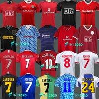 1999 2000 1983 مانشستر ريترو لكرة القدم جيرسي 1992 2007 مان 08 94 98 99 86 88 1990 2002 المتحدة V.Nistelrooy Giggs Beckham Ronaldo Cantona Away Solskjaer Shirts