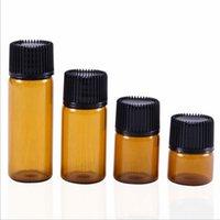 1ml 2ml 3ml 5ml Amber Dropper Mini Glass Bottle Essential Oil Display Vial Small Serum Perfume Brown Sample container DH9587