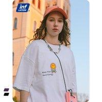 Abbigliamento da uomo INF Nuovi prodotti in primavera e in estate 2021 Street Fashion Brand Suower Stampa Lettera Allenamenti Amanti a maniche corte Amanti T-shirt