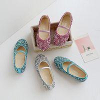 Zapatos de moda para niños para niñas Doll Doll Vestido de niños con Rhinestone Crystal Flats Pearls Princess Body Party 1160 x2