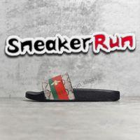 Gucci 2021 Designer Rubber slide sandal Floral slippers for men women Sandals Summer Beach Indoor Flat G with Box