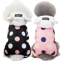 Winter Dog Clothes Hoodie Coat Big Polka Dot Cotton Coat Thicken Winter Warm Clothes for Small Dogs Puppy Sweater Dogs Pets 201126 944 R2