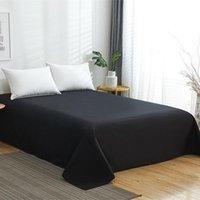 Sheets & Sets Solid Color Flat Sheet 100% Cotton Bed Queen King Size Guest Room   El Bedspread
